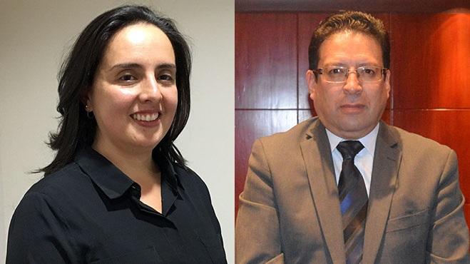Marisol Bahamonde, USFQ y Ramiro L�pez, UCE.