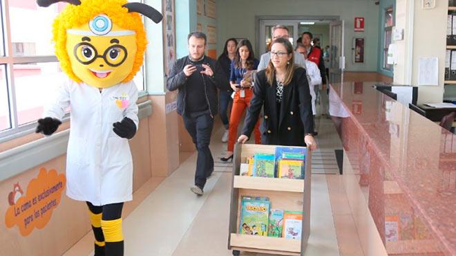 Ver�nica Espinosa estuvo presente en el evento inaugural en el Hospital Pedi�tric Baca Ortiz.