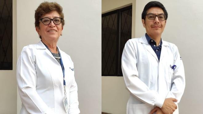Patricia Cueva y Wilmer Tarupi, epidemi�logos de SOLCA-Quito.