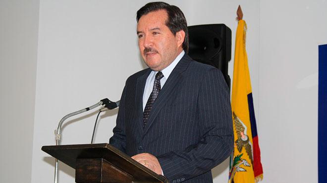 Camilo F�lix, decano de la Facultad de Ciencias de la Salud de la UTE