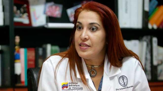 Antonieta Caporales, ex minsitra de Salud.