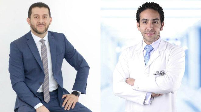 Diego Serrano, especialista en arritmias y marcapasos del Hospital Santa In�s, y Diego Egas, especialista en estimulaci�n cardiaca artificial y electrofisiolog�a invasiva del Hospital Metropolitano.