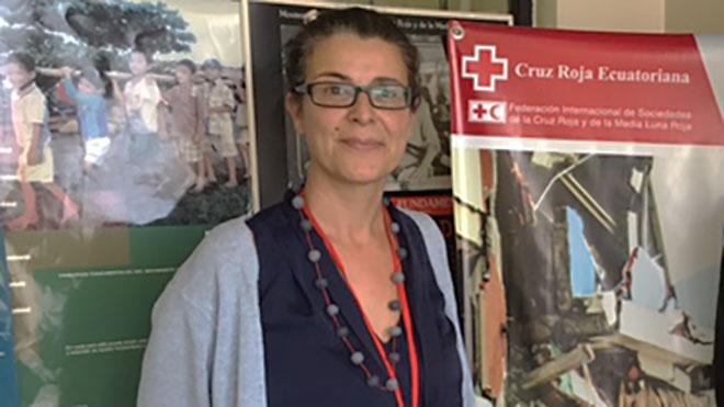 Carmen Ferrer, delegada de la Federaci�n Internacional de Sociedades de la Cruz Roja.