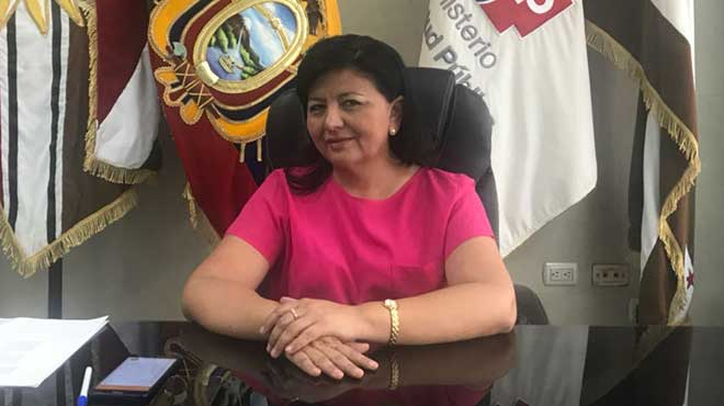 Carmina Pinargote, coordinadora zonal 4 de Salud.