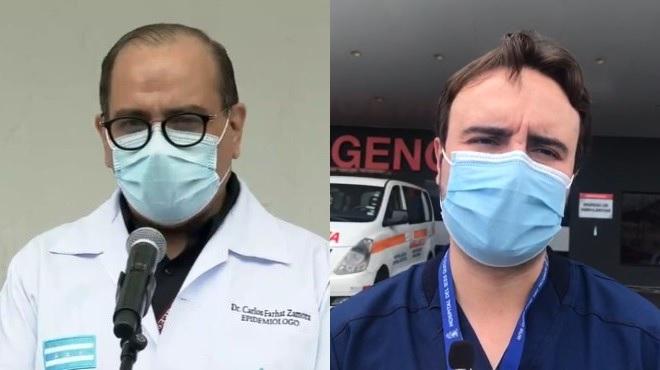 Carlos Farhat y Francisco Mora.
