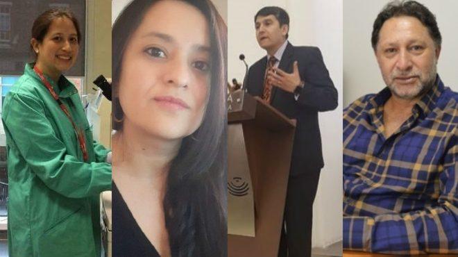 D�maris Intriago, Andrea G�mez, Enrique Ter�n y C�sar Paz y Mi�o.