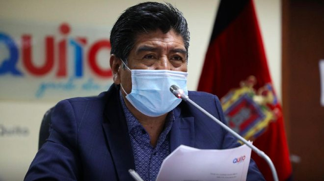 Jorge Yunda, alcalde de Quito.