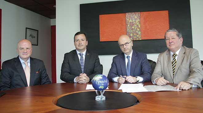 Alfredo Borrero, Bruno Ledesma, Carlos Larreategui y Luis Mario Tamayo.