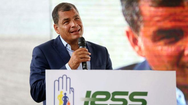 Rafael Correa, presidente del Ecuador.