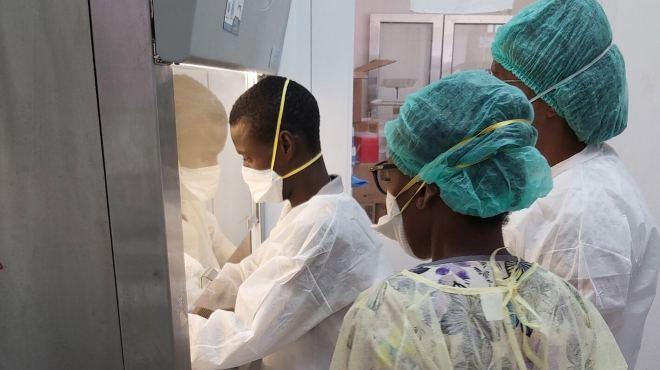45 laboratorios nacionales de salud p�blica que realizan pruebas de PCR en los pa�ses de las Am�ricas.