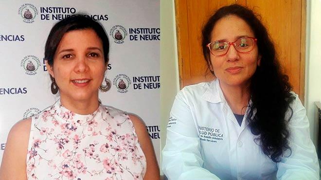 Mar�a Ver�nica Moreira y Claudia Ch�vez.