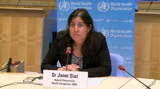 Janet D�az, jefa de los servicios cl�nicos de la OMS.