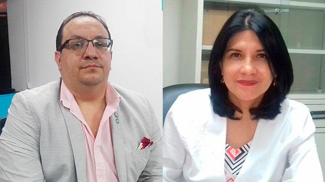 Carlos Sol�s y Mar�a Vanegas, responsables de los servicios de Endocrinolog�a de los hospitales Los Ceibos y Luis Vernaza.
