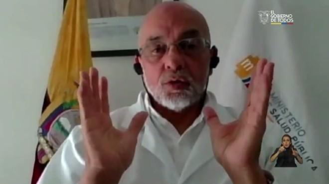 Francisco Xavier Sol�rzano, viceministro de Salud.