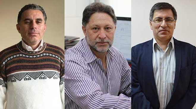 Rub�n Chiriboga, C�sar Paz y Mi�o y Hugo Esp�n.