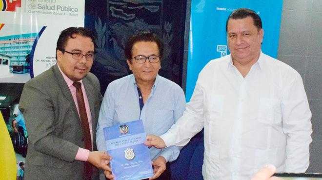 Freddy Saldarriaga, Jorge Zambrano y Fernando Rivera.