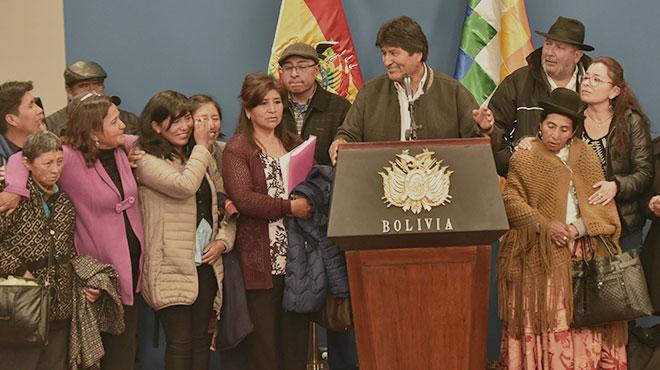 Evo Morales, presidente de Bolvia.