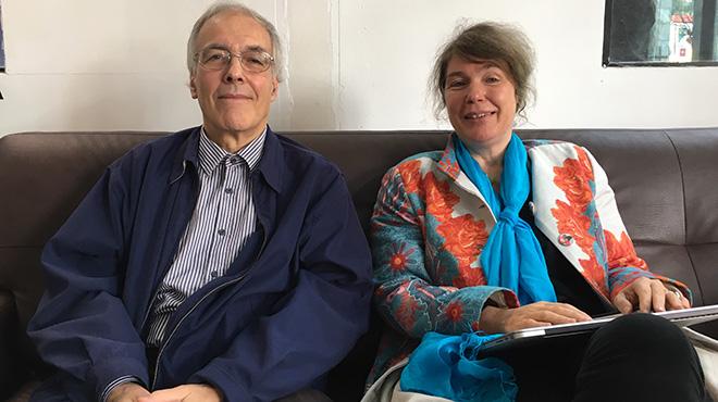 Ursula Giedion y Joan Rovira Forns