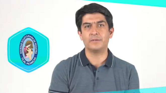 Fernando Aguinaga, presidente de la Sociedad Ecuatoriana de Pediatr�a.
