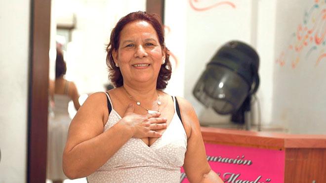 Mar�a L�pez, habitante de Bah�a de Car�quez.