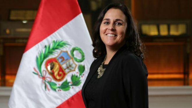 Patricia García, ministra de Salud de Perú.