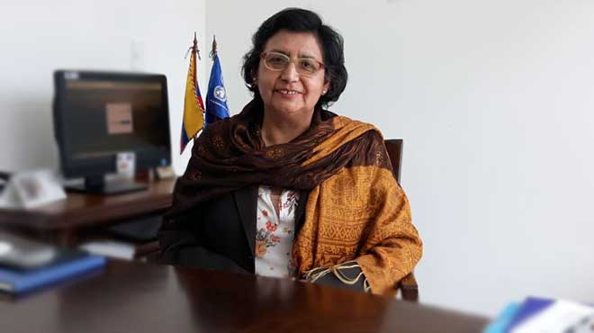 Gina Tambini, representante OPS/OMS en Ecuador.