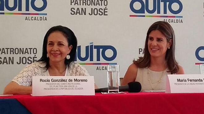 Rocío de Moreno y María Fernanda Pacheco.