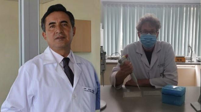 Angel Guevara (UCE) y Jacobus de Waard (UDLA).