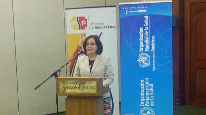 Margarita Guevara, ministra de Salud.