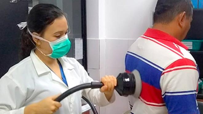 Hospital General Milagro ofrece servicion de terapias respiratorias.