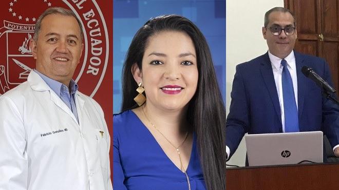 M�dicos investigadores Fabricio Gonz�lez, Ruth Jimbo, Peter Chedraui.