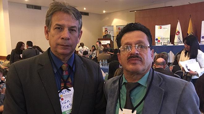 Iv�n Prieto, Asesor de ALFE y Gonzalo Apolo, representante de CICME.