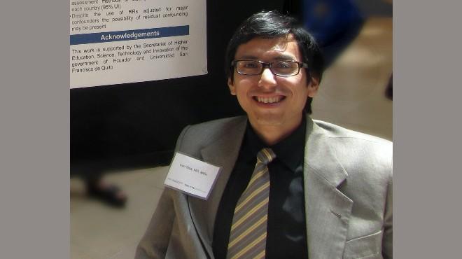 Iván Sisa, investigador de la USFQ.