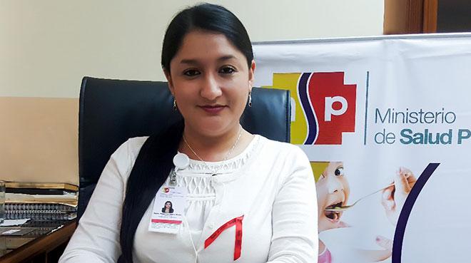 J�ssica Puente, directora del Distrito de Salud de Suc�a y Logro�o.