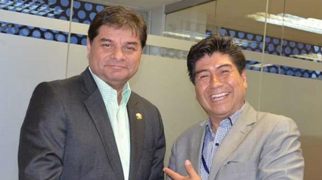 William Garz�n, presidente; y Jorge Yunda, vicepresidente de la Comisi�n de Salud.