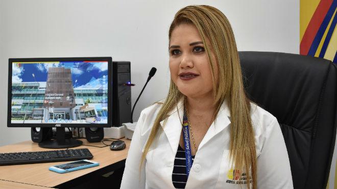 Katiusca Hern�ndez, gerente Hospital Guasmo Sur.