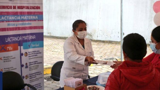 Charla del Hospital Básico Guaranda.