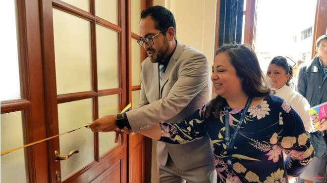 Inauguraci�n de la sala de apoyo a la lactancia materna del Eugenio Espejo.