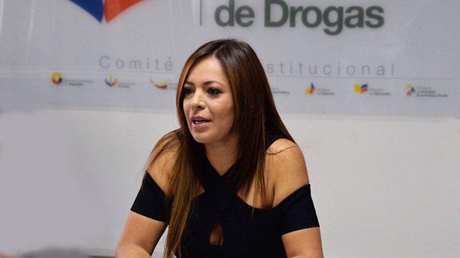 Ledy Z��iga, secretaria T�cnica de Prevenci�n Integral de Drogas.