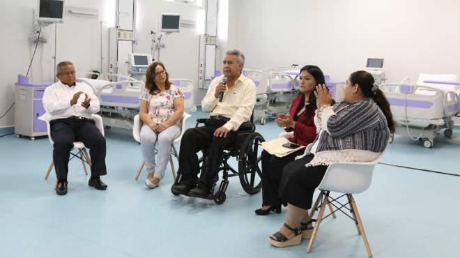 Len�n Moreno ha anunciado que se realizar�n todas las gestiones para que la casa de salud est� operativa al 100 por ciento.