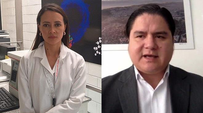 Linda Guam�n y Julio L�pez.