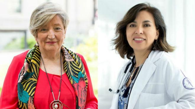 Ana Lluch y Claudia Arce, onc�logas.
