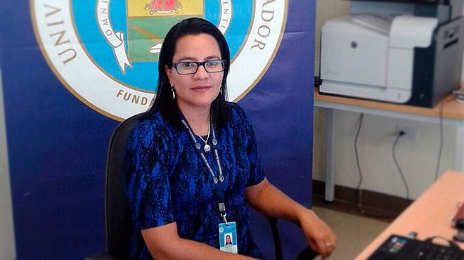 Lucy Balde�n, directora del Inbiomed.
