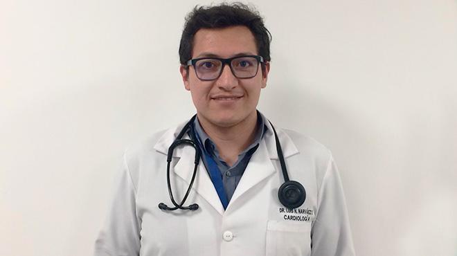 Luis Narv�ez, cardi�logo del HQSur.