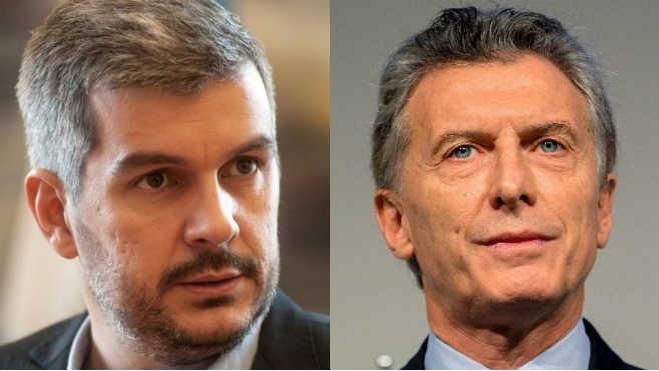 Marcos Pe�a, jefe de Gabinete argentino; Mauricio Macri, presidente de Argentina.