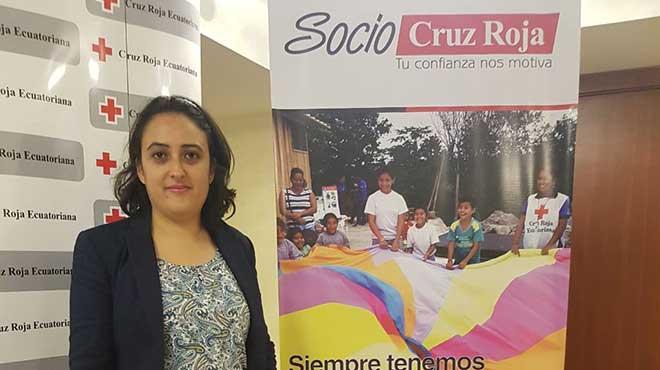 Manuela Iturralde, coordinadora nacional de Movilizaci�n de Recursos de CRE.