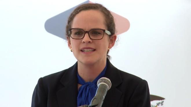 Mar�a Brown, ministra de Educaci�n.