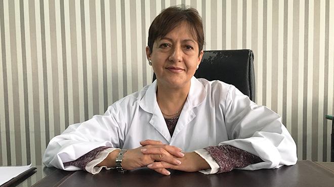 Mar�a Leiva, hemat�loga.