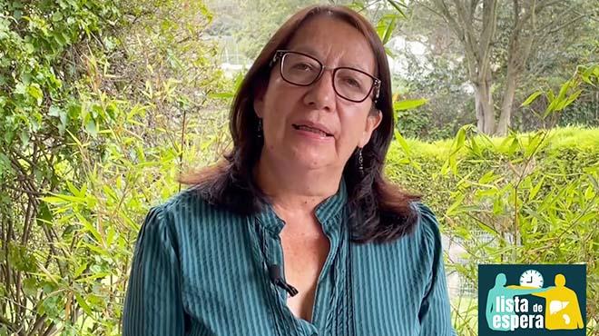 Martha Rodríguez, vocera del colectivo Lista de espera.
