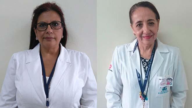Mar�a Luisa Meneses del HAGP y Clara Dutasaca del HFIB.